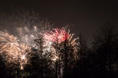 Feux d'artifice de marrons Photographie stock libre de droits