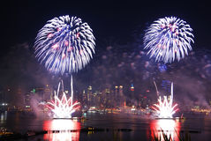Feux d'artifice de New York City Image stock