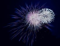 Feux d'artifice de soufflage Photo stock