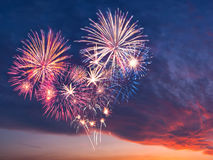Feux d'artifice de vacances Photos libres de droits
