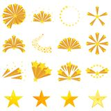 Feux d'artifice des étoiles, explosion d'étoile illustration de vecteur