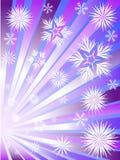 Feux d'artifice des flocons de neige illustration stock