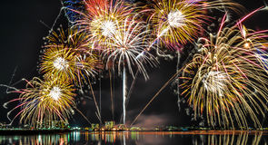 Feux d'artifice du lac Biwa Images libres de droits