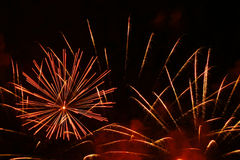 Feux d'artifice grands Photographie stock libre de droits