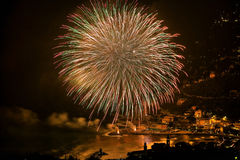 Feux d'artifice HDR Photo stock