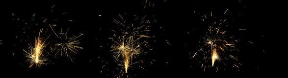 Feux d'artifice la nuit de Guy Fawkes au Nouvelle-Zélande Photographie stock libre de droits