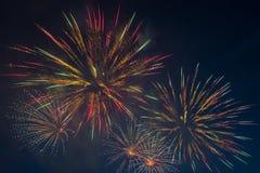 Feux d'artifice le Jour de la Déclaration d'Indépendance Photographie stock libre de droits