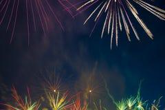 Feux d'artifice le Jour de la Déclaration d'Indépendance Images libres de droits