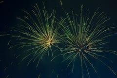 Feux d'artifice le Jour de la Déclaration d'Indépendance Image stock