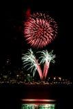 feux d'artifice le quatrième juillet Image stock
