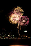 feux d'artifice le quatrième juillet Photo libre de droits