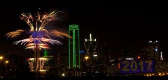 feux d'artifice le Texas de Dallas Photo stock