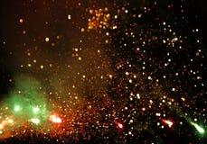Feux d'artifice lumineux lisses multicolores uniques de résumé artistique photographie stock