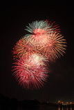 Feux d'artifice multi de couleur Image stock