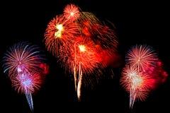 feux d'artifice multicolores réglés - bel isolat coloré de feu d'artifice Photo libre de droits