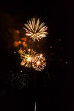 Feux d'artifice multiples Photo stock