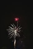 Feux d'artifice naturels brillants Photo stock