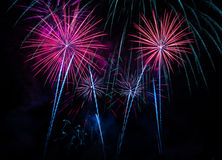 Feux d'artifice quatre Images libres de droits