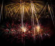 Feux d'artifice quatre Photographie stock libre de droits