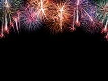 Feux d'artifice réglés Feux d'artifice de célébration de nouvelle année Photos stock