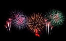 Feux d'artifice réglés Feux d'artifice de célébration de nouvelle année Image libre de droits