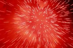 Feux d'artifice rouges Images stock