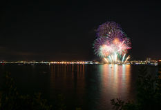 Feux d'artifice Salou photos libres de droits