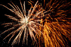 Feux d'artifice spectaculaires Image stock