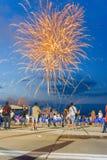 feux d'artifice spectaculaires photo stock