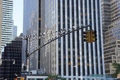 Feux de signalisation à New York Images libres de droits