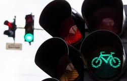 Feux de signalisation ? Bucarest image libre de droits