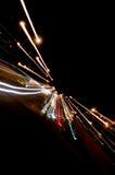 Feux de signalisation de nuit Photo stock