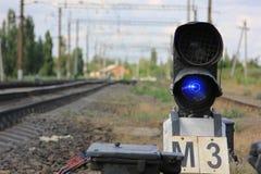 Feux de signalisation ferroviaires Photo libre de droits