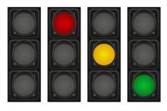 Feux de signalisation pour l'illustration de vecteur de voitures Photos libres de droits