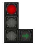 Feux de signalisation pour l'illustration de vecteur de voitures Image libre de droits