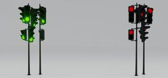Feux de signalisation de signal rouge et vert Image libre de droits