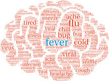 Fever Brain Word Cloud Stock Photo