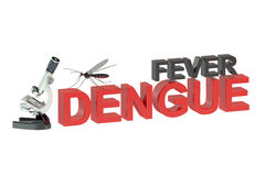 Fever dengue concept. On white background Stock Photography