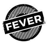 Fever rubber stamp. Grunge design with dust scratches. Effects can be easily removed for a clean, crisp look. Color is easily changed Royalty Free Stock Images