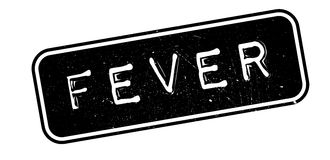 Fever rubber stamp. On white. Print, impress overprint Stock Photos