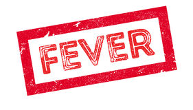 Fever rubber stamp. On white. Print, impress overprint Royalty Free Stock Photo