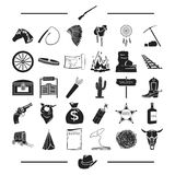 Fever, tourism, entertainment and other web icon in black style., bank, Texas, Gold, icons in set collection. Fever, tourism, entertainment and other  icon in Stock Image