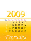 Fevereiro 2009 Imagem de Stock