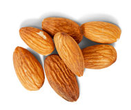 Few almond nuts Stock Photography