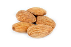 Few almonds 2 Royalty Free Stock Image