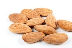 Few almonds 3 Royalty Free Stock Image