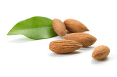Few almonds Stock Photo