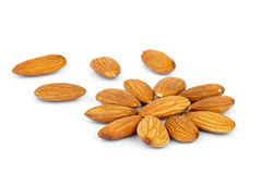 Few almonds in the shape of flower Royalty Free Stock Photo