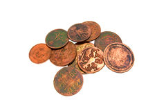 Few ancient coins Royalty Free Stock Photos