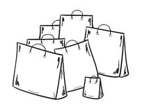 Few bags for shopping Royalty Free Stock Image